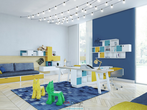 Gallery of stylish kids room for two generations