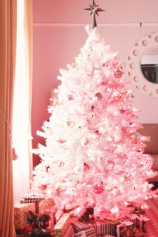 20 Awesome Pink Christmas Tree Ideas Homemydesign