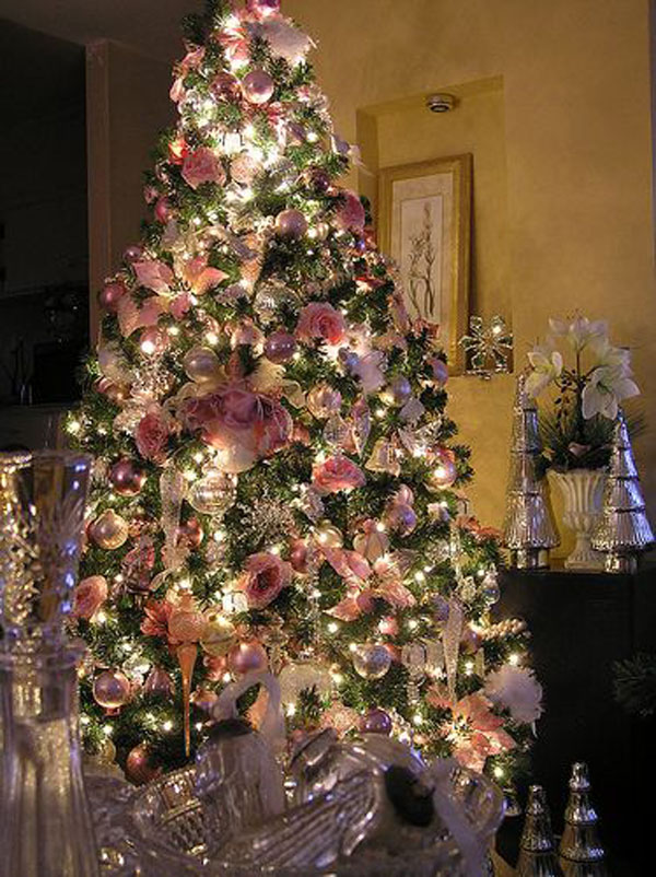 pink christmas tree lights - Light Pink Christmas Tree
