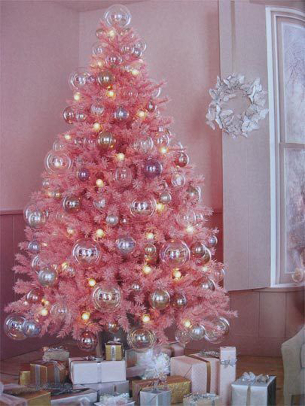 pink christmas trees - Light Pink Christmas Tree