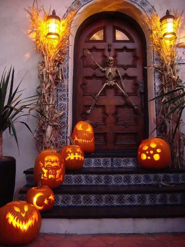 let your imagination go wild with halloween front door ideas and let us surprise your guests with something a little creepy good luck - Halloween Front Doors
