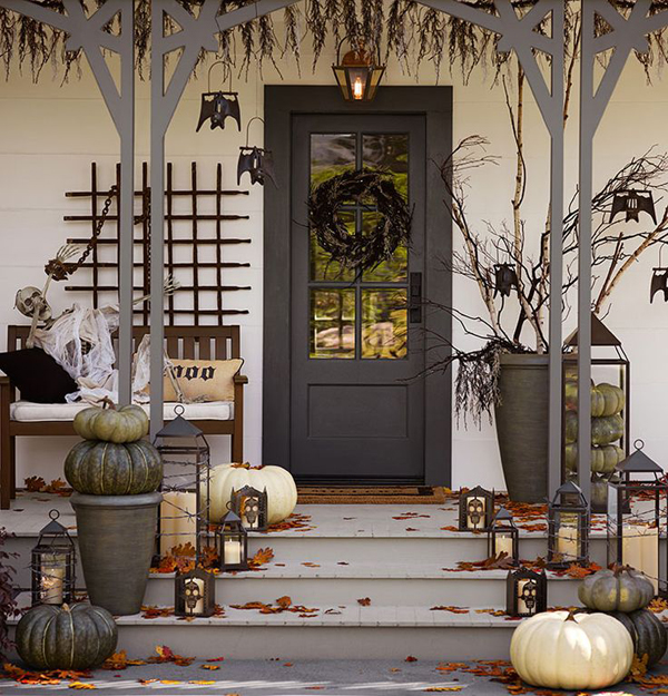 Scary Halloween Front Door Designs