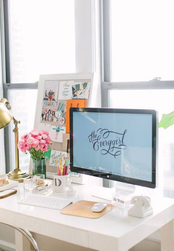 Small Girly Workspace Ideas
