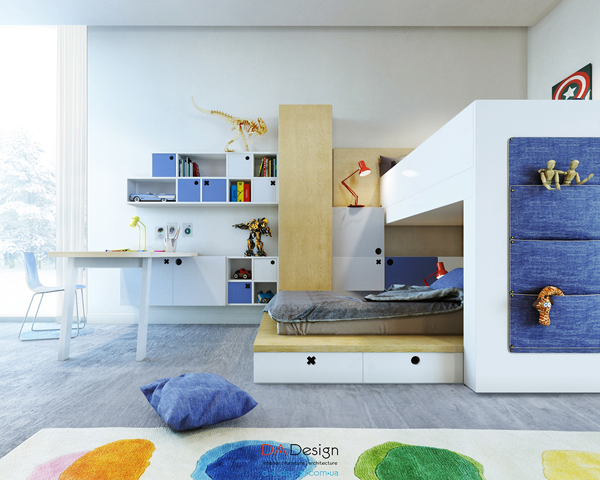 Stylish Kids Room For Two Generations Home Design And