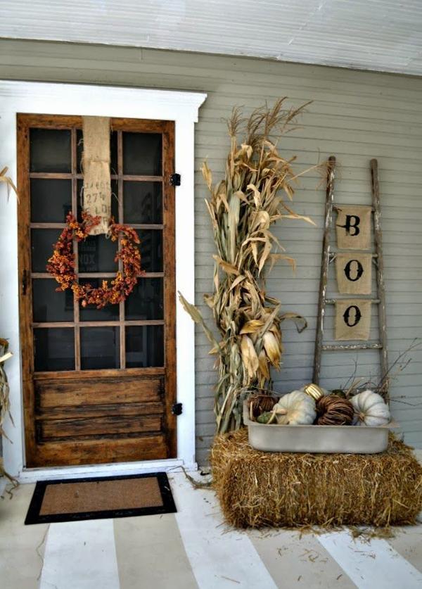 Scary Halloween Front Door Designs