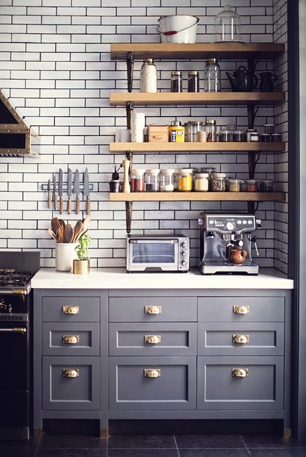 West Village Kitchen Shelving Home Design And Interior