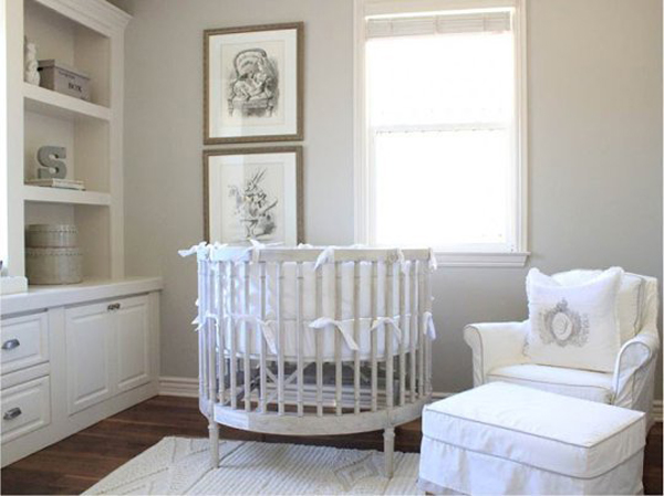 white neutral nursery decor