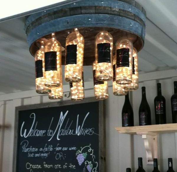 Wine bottle chandeliers mozeypictures Choice Image