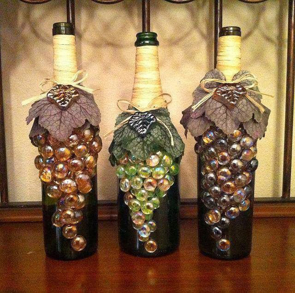 Empty wine bottle decoration ideas quotes for Empty bottle decoration ideas