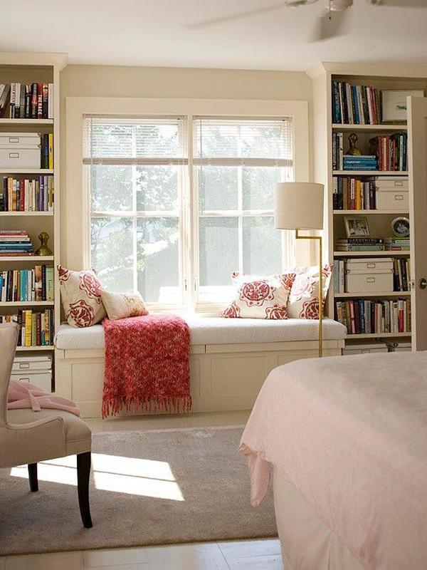 bedroom window seat reading nooks