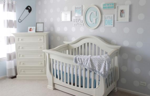 blue-baby-nursery-with-polka-dot-themes
