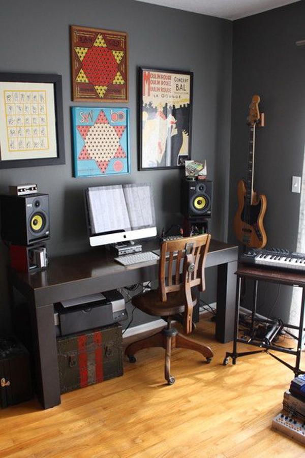 boysmusicbedroomoffice  homemydesign