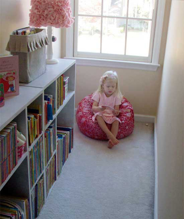 15 comfortable kids reading books home design and interior for Kids reading corner ideas