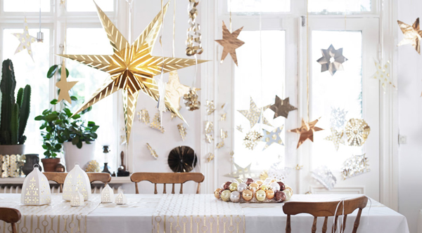 Gold christmas party from ikea - Decoration noel ikea ...
