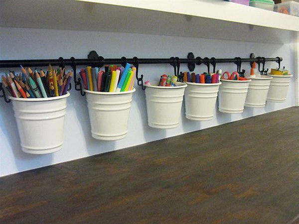Ikea fintorp caddies for kids - Art desk with storage organization ...