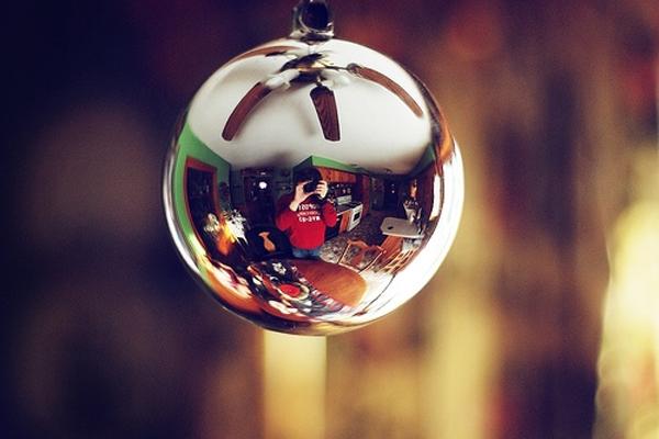 Mirror Christmas Ball Ornament