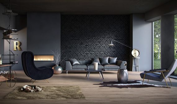 modern-black-living-room