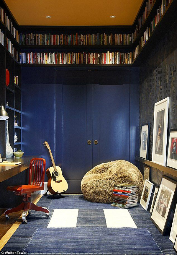 music bedroom library