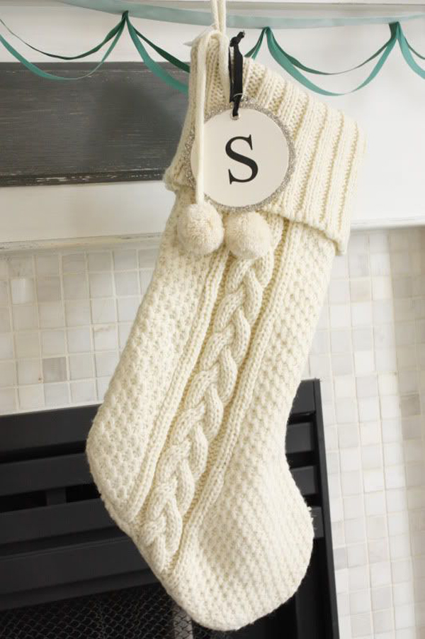 White Christmas Knitted Stocking Ideas