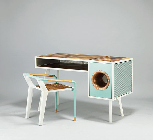 cool soundbox desk for smartphone home design and interior