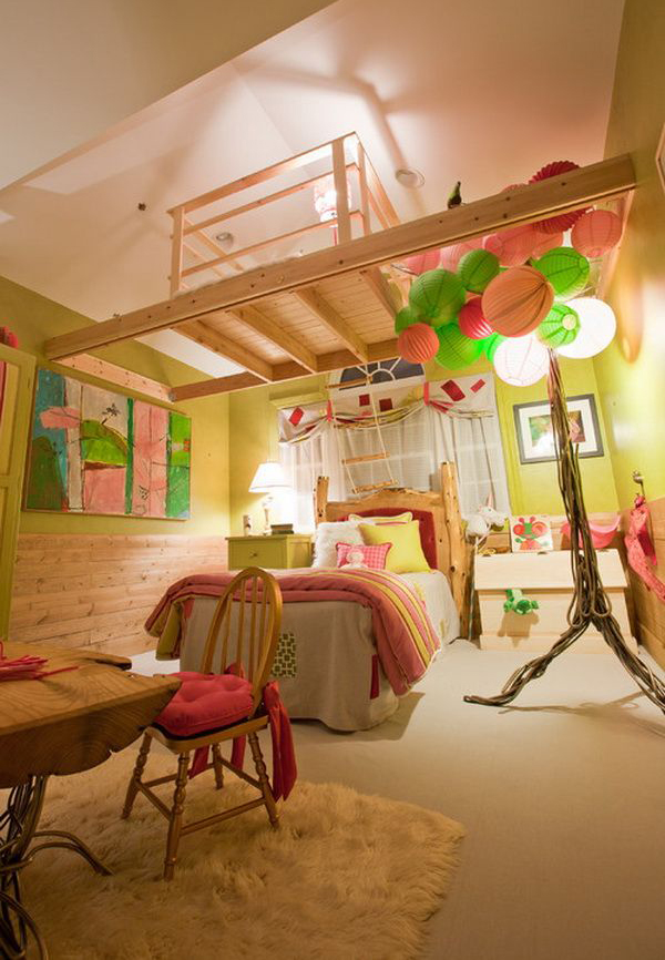 Creative teenage girl bedroom for Creative room decor