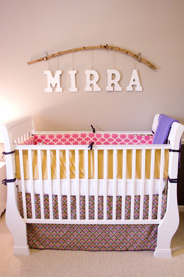 Cute Nursery Ideas Part - 45: DIY Cute Nursery For Baby Mirra