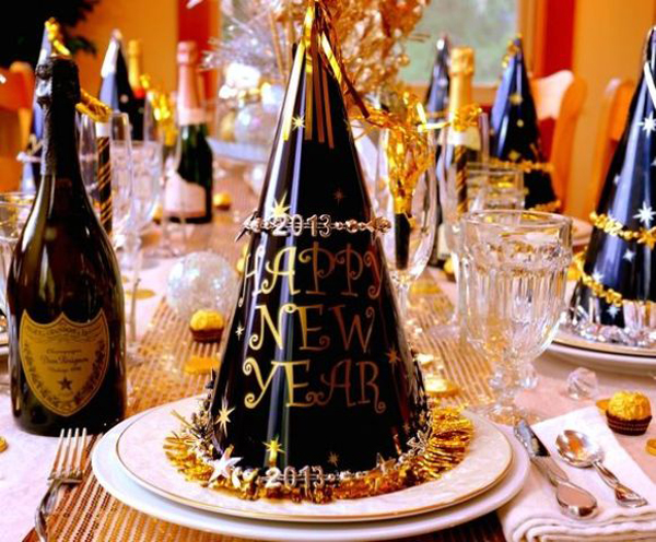 20 wonderful new year eve party ideas home design and interior - Deco table nouvel an ...