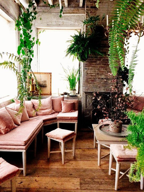 10 wonderful rooms with urban jungle home design and for Jardin interieur japonais