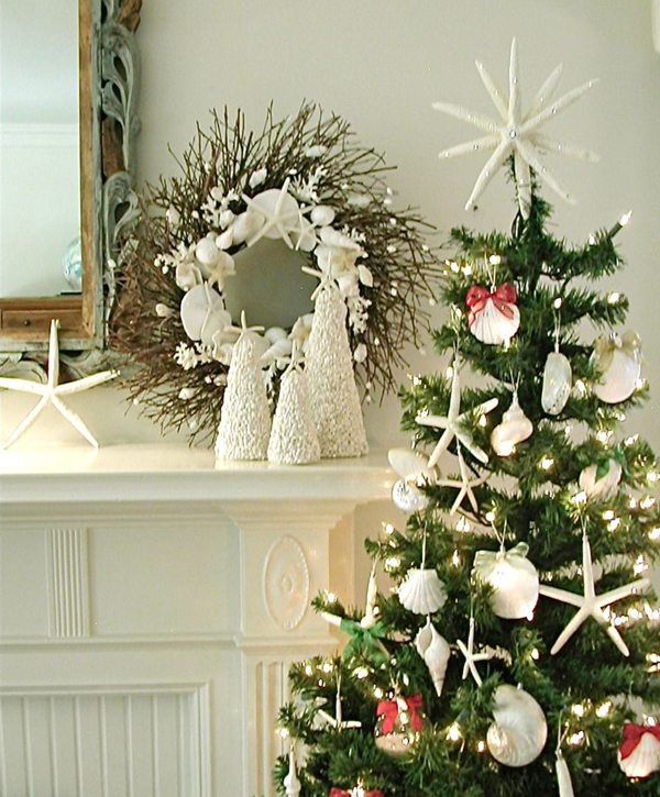 Christmas Decorations For The Beach House : Starfish beach christmas trees