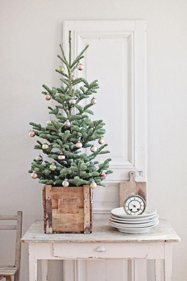 Vintage Small Christmas Tree Decoration
