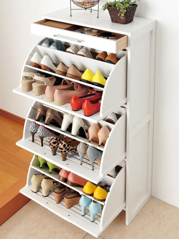 10 super stylish shoe storage solutions home design and Stylish shoe rack