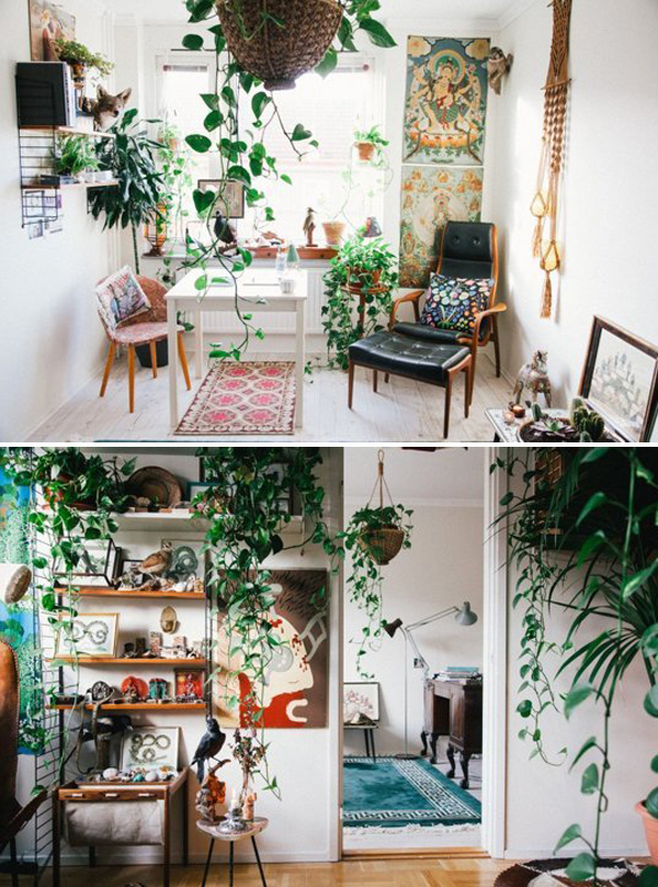 10 Wonderful Rooms With Urban Jungle Home Design And