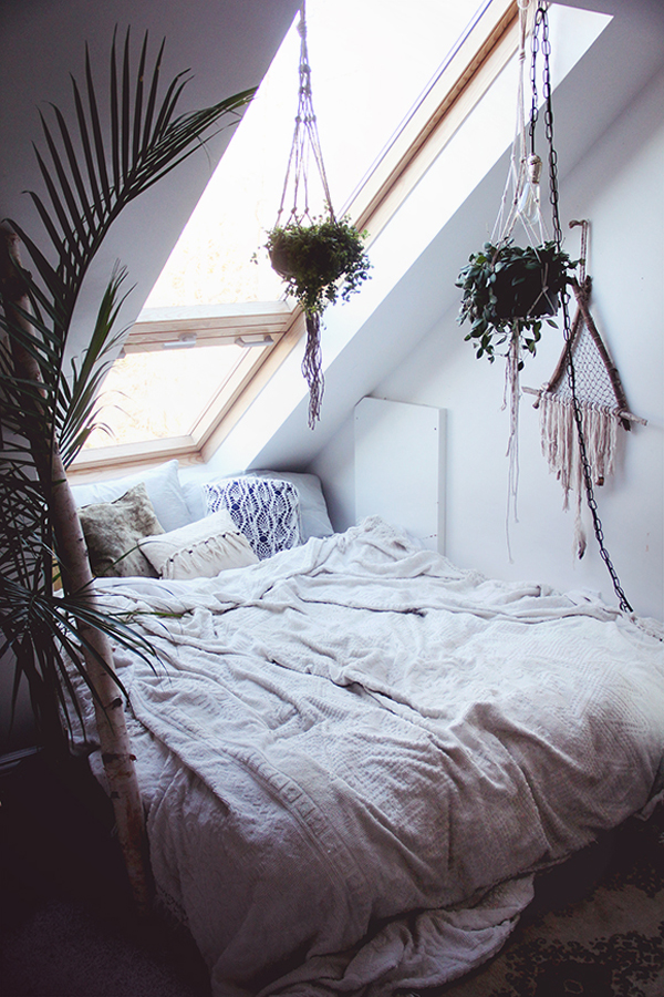 Diy cozy bedroom with nature element home design and Nature bedroom