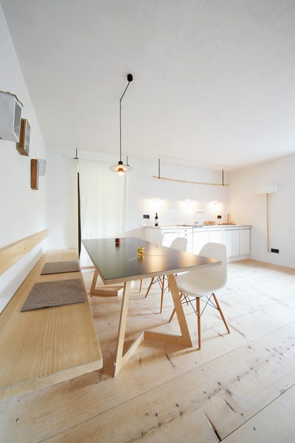 Minimalist dining room for Minimal design dining room