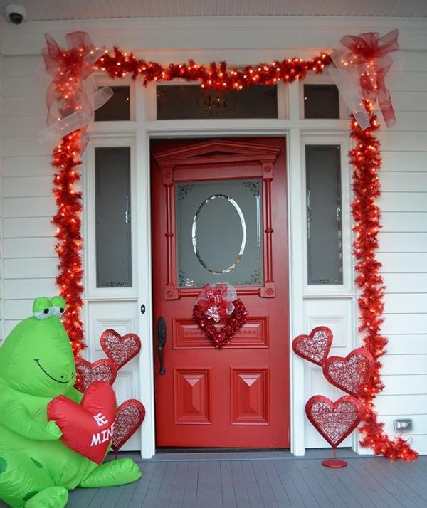 Door Decorating Ideas Home Decor And Design Image Of: 20 Romantic Outdoor Valentine Decorations
