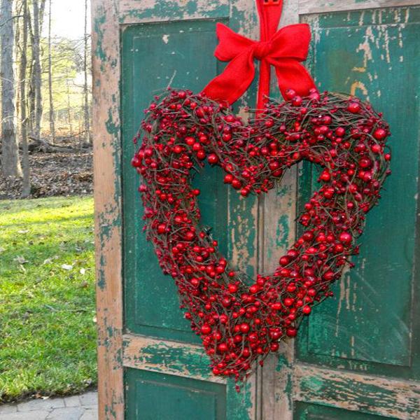 valentine wreath ideas 20 romantic outdoor valentine decorations home design and interior