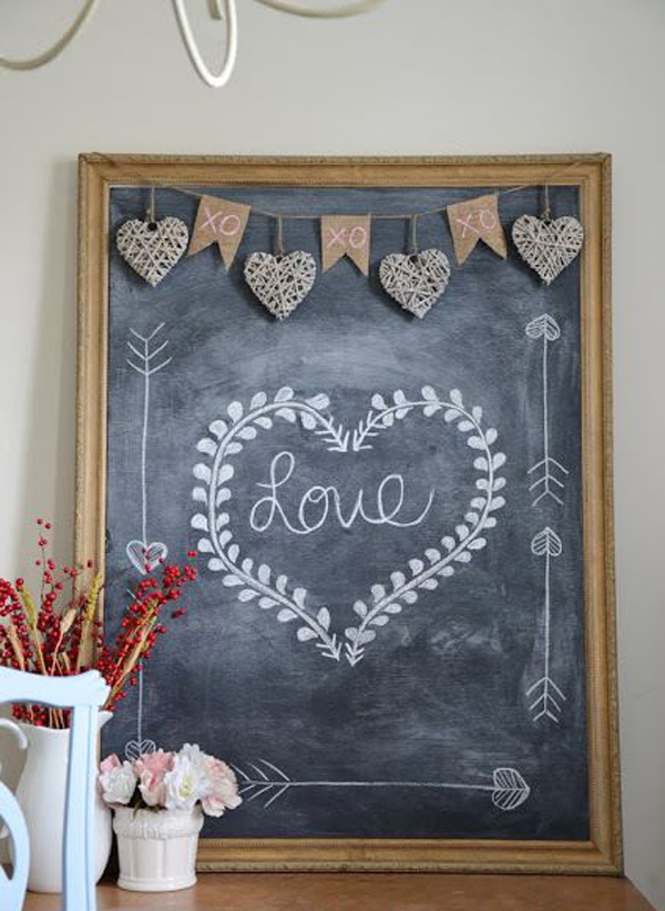 15 romantic chalkboard ideas for valentines day home design and interior - Chalkboard Designs Ideas
