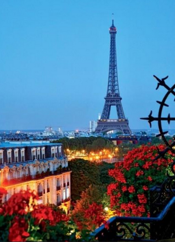 Balcony With Eiffel Tower View
