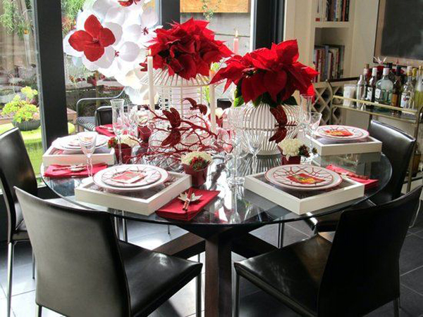 Chinese new year party table setting for Table design for new year