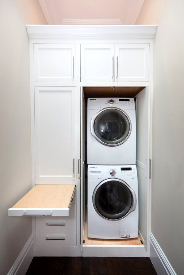 12 tiny laundry room with saving space ideas home design and interior - Washer dryers for small spaces ideas ...