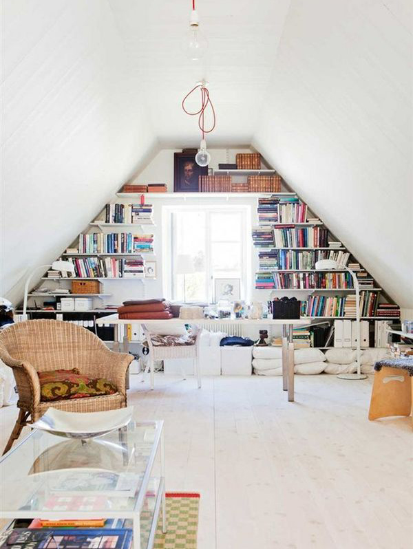Creative Attic Library Decor Ideas