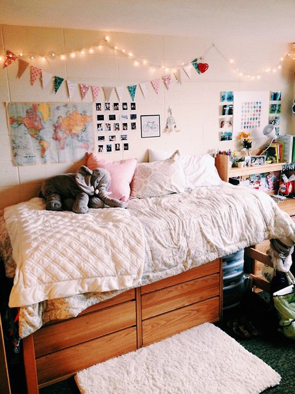 Ideas For Dorm Room: 20 Comfortable Dorm Room Ideas