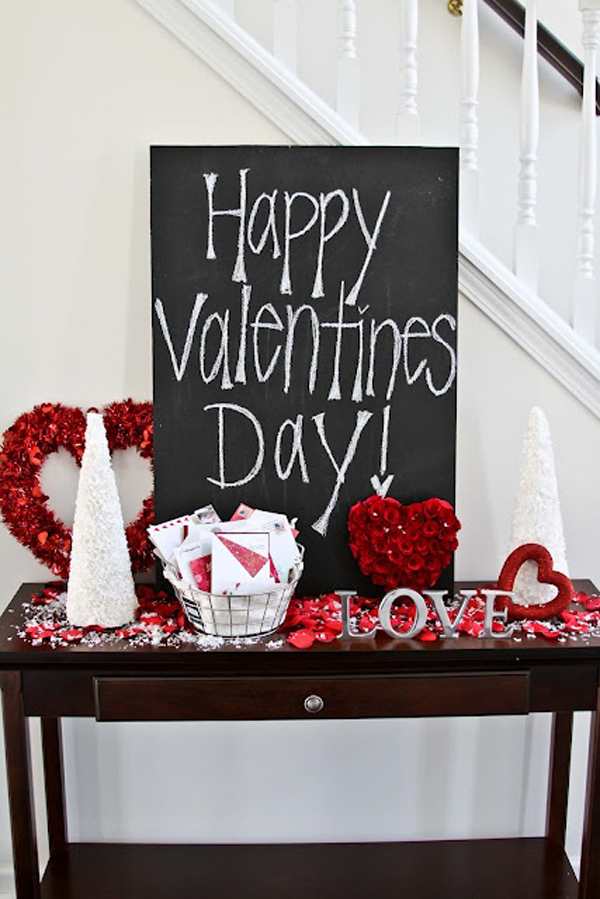 Romantic chalkboard ideas for valentine s day home