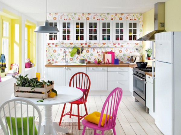 15 original kitchen with pop colors home design and interior for Pop design for kitchen
