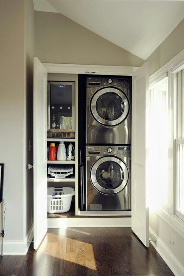12 Tiny Laundry Room With Saving Space Ideas Homemydesign