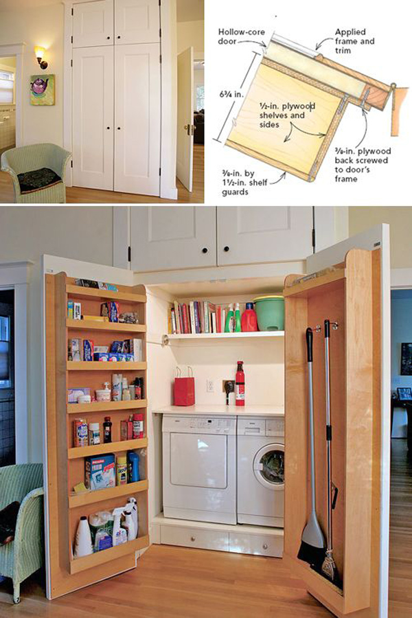 12 tiny laundry room with saving space ideas home design and interior - Home storage ideas for small spaces plan ...