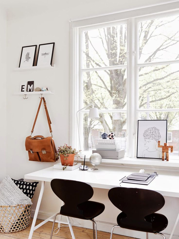 15 Beautiful Two Seat Workspace Ideas Home Design And: study table facing window