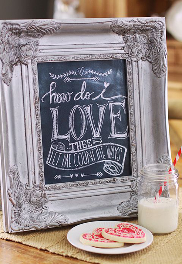 15 Romantic Chalkboard Ideas For Valentines Day Home