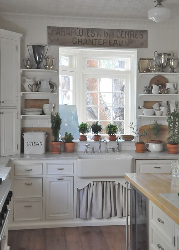 vintage farmhouse kitchen decoration