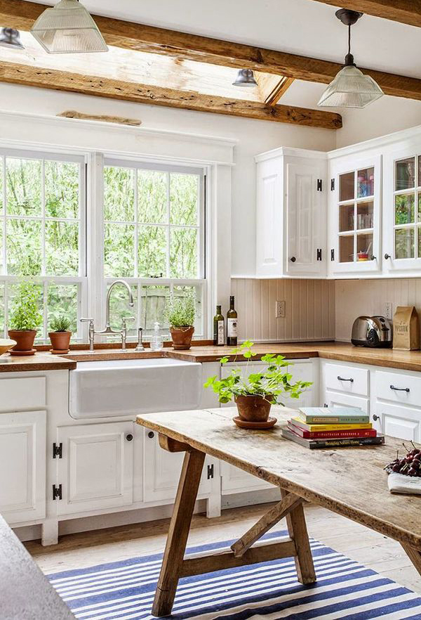 nice Old Farmhouse Kitchen Designs #9: 20 Vintage Farmhouse Kitchen Ideas